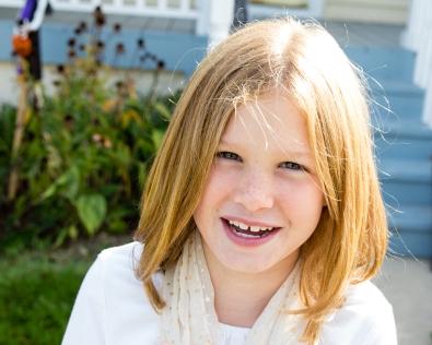 Meg, age 8